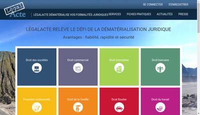 Site internet de Legalacte