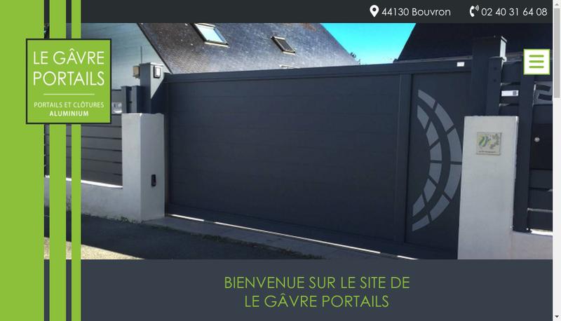 Capture d'écran du site de Le Gavre Portails