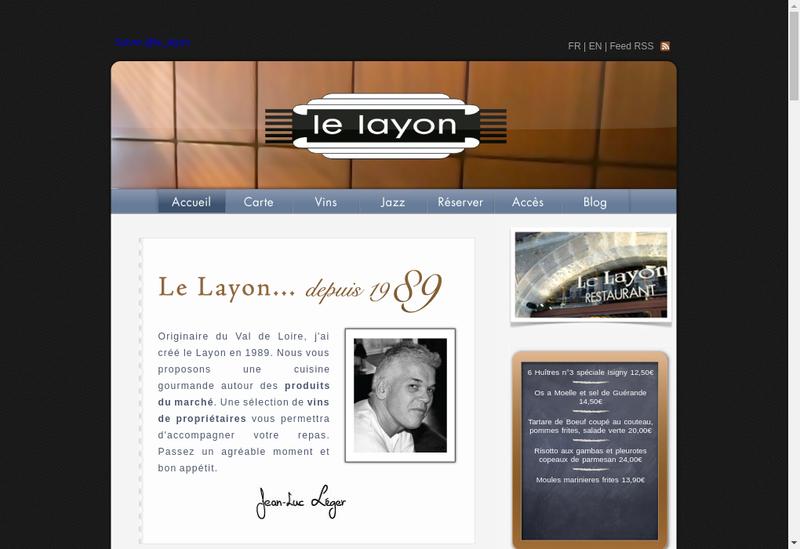 Capture d'écran du site de Le Layon
