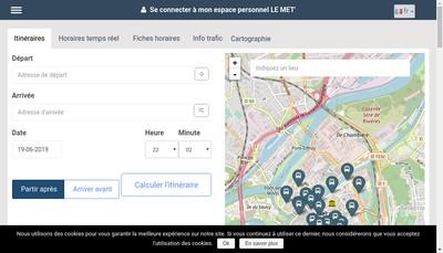 Site internet de Transports de l'Agglomeration de Metz Metropole