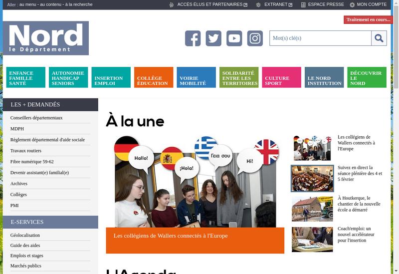 Capture d'écran du site de Nord Consultant SA