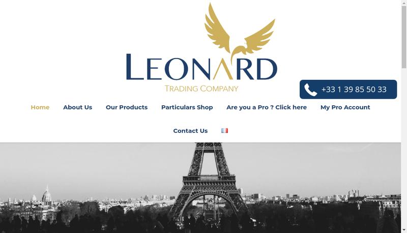 Capture d'écran du site de Leonard Trading Company