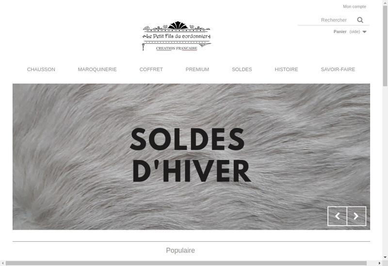 Capture d'écran du site de Petit Peton