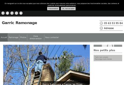 Capture d'écran du site de Le Phare St Louis