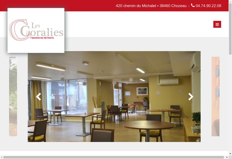 Capture d'écran du site de Les Coralies