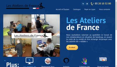 Capture d'écran du site de Atelier de France