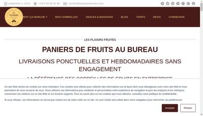 Site internet de Les Plaisirs Fruités
