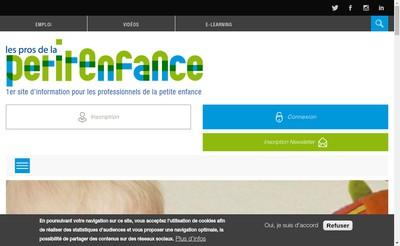 Site internet de Les Pros de la Petite Enfance