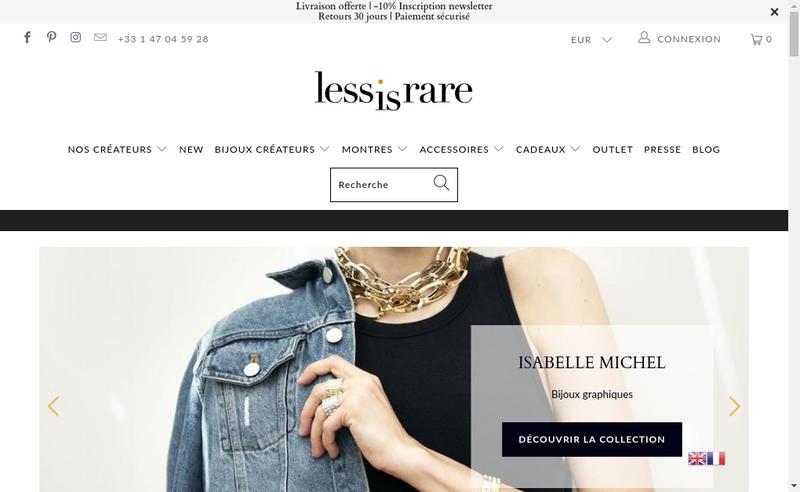 Capture d'écran du site de Lessisrare