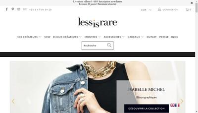 Site internet de Lessisrare