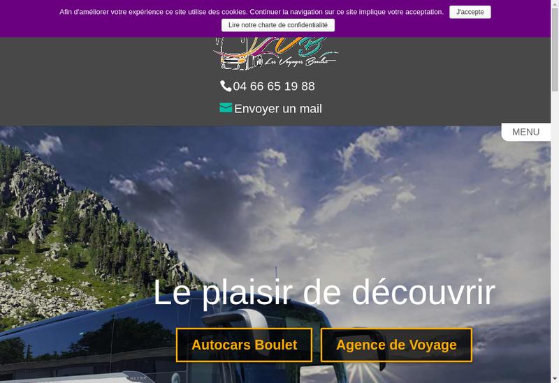 Capture d'écran du site de Societe Boulet