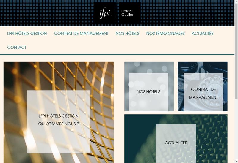 Capture d'écran du site de Lfpi Hotels Gestion