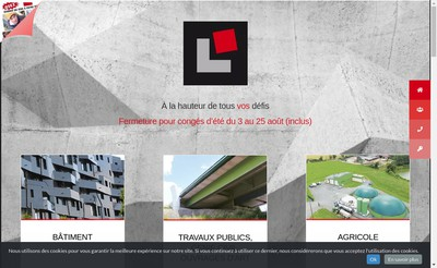 Site internet de LG Beton