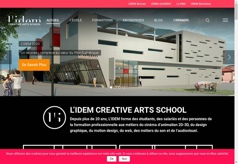 Capture d'écran du site de Instit Develop Enseigne Medit Formation