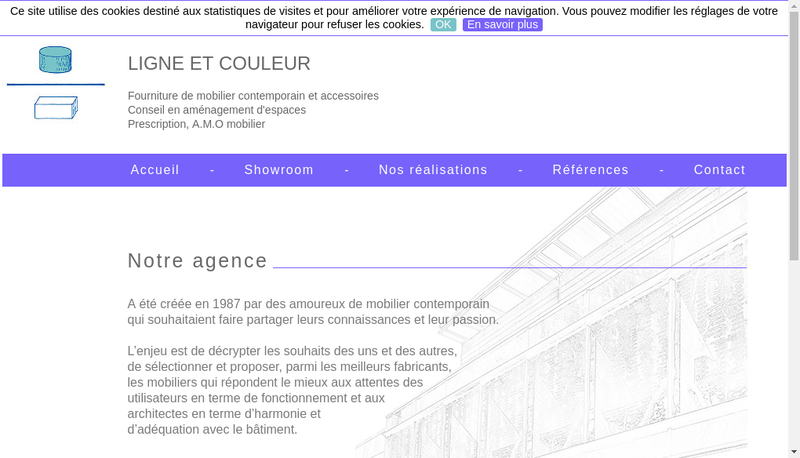Capture d'écran du site de Ligne et Couleur