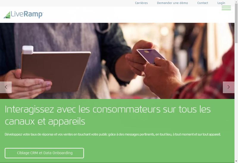 Capture d'écran du site de Acxiom France