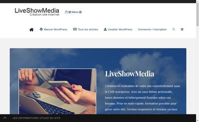 Site internet de Liveshowmedia