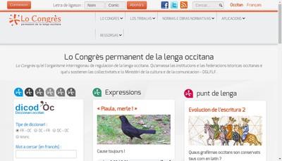 Site internet de Association Lo Congres Permanent de la Lenga Occitana