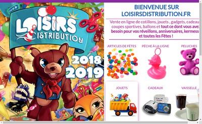 Site internet de Loisirs Distribution