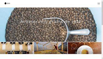 Site internet de Cafe Lomi