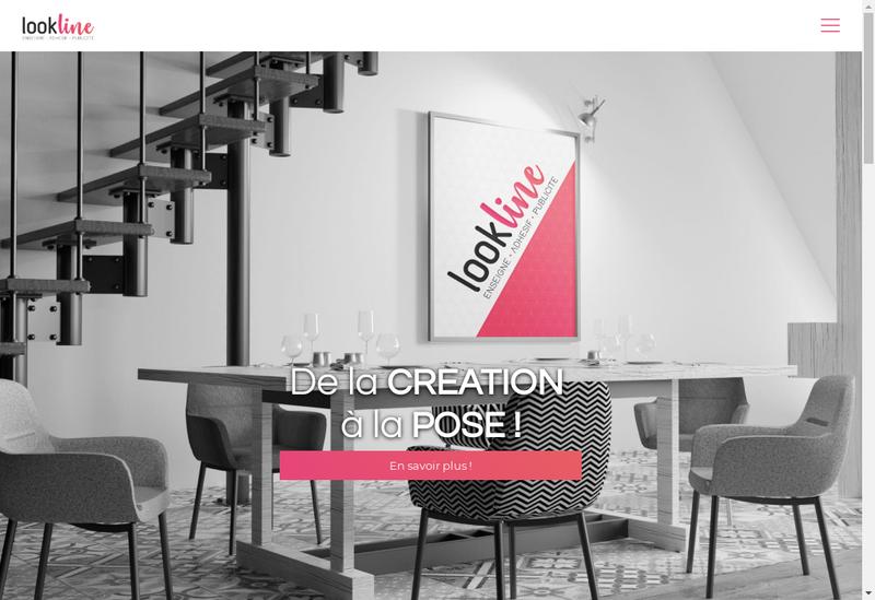 Capture d'écran du site de Look Line