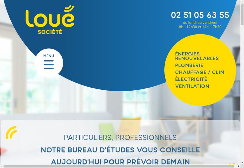 Capture d'écran du site de Loue Electricite