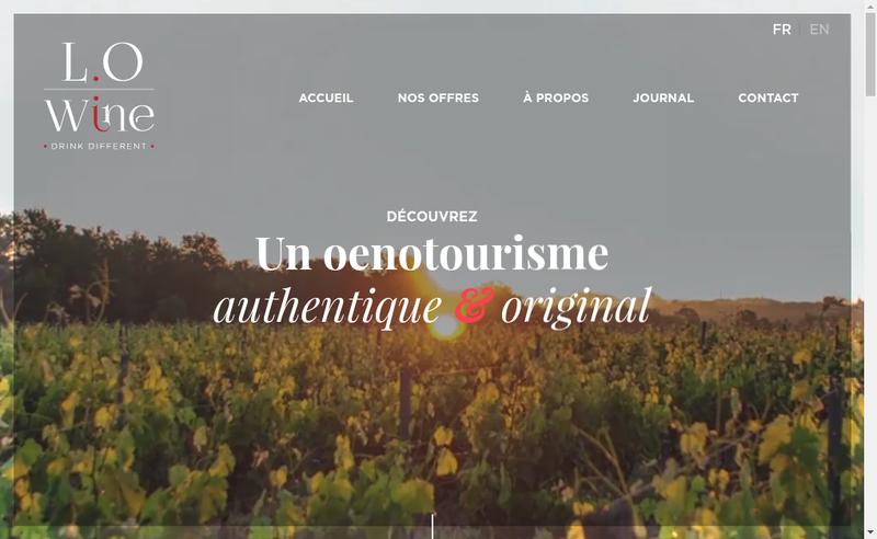 Capture d'écran du site de Lo-Wines
