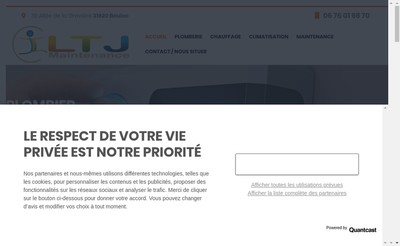 Site internet de Ltj Maintenance