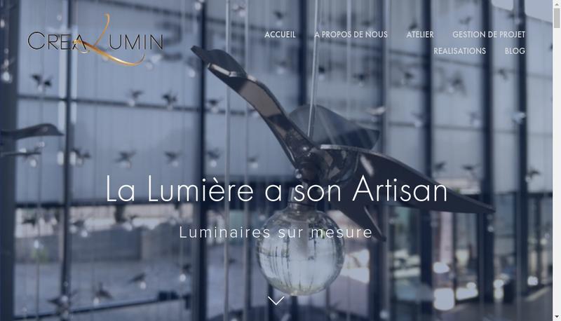 Capture d'écran du site de Crealum In A6 Net