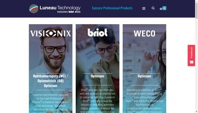 Site internet de Luneau Technology Operations