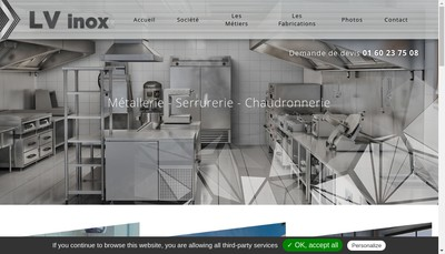 Site internet de Lv'Inox