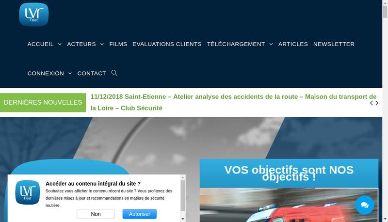 Capture d'écran du site de Lvr Fleet
