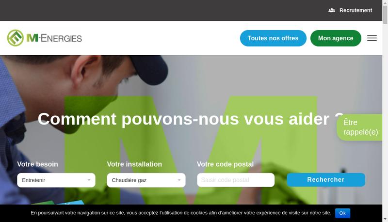 Capture d'écran du site de Solorec