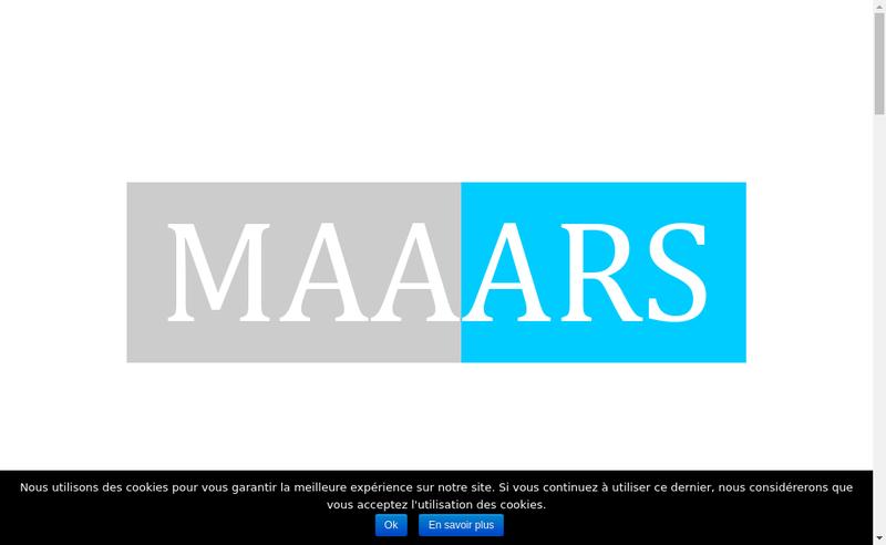 Capture d'écran du site de Maaars