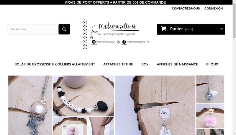 Capture d'écran du site de Mademoizelle a