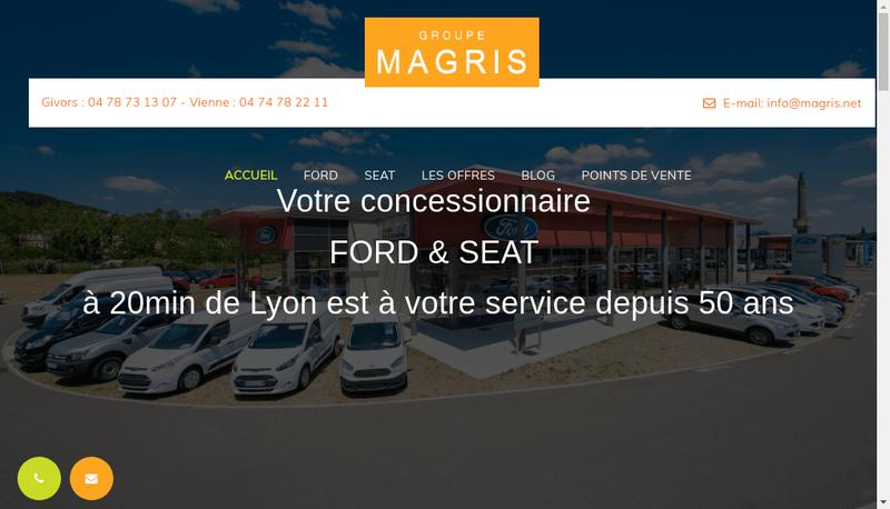 Capture d'écran du site de Ford Magris