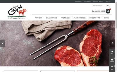 Site internet de Maison Conquet