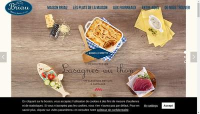 Site internet de Maison Briau