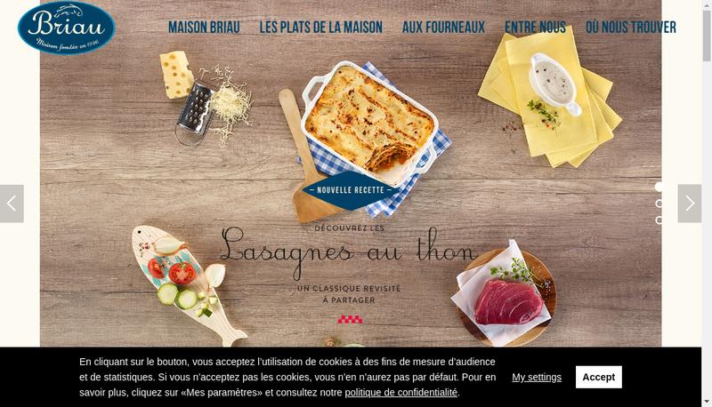 Capture d'écran du site de Maison Briau