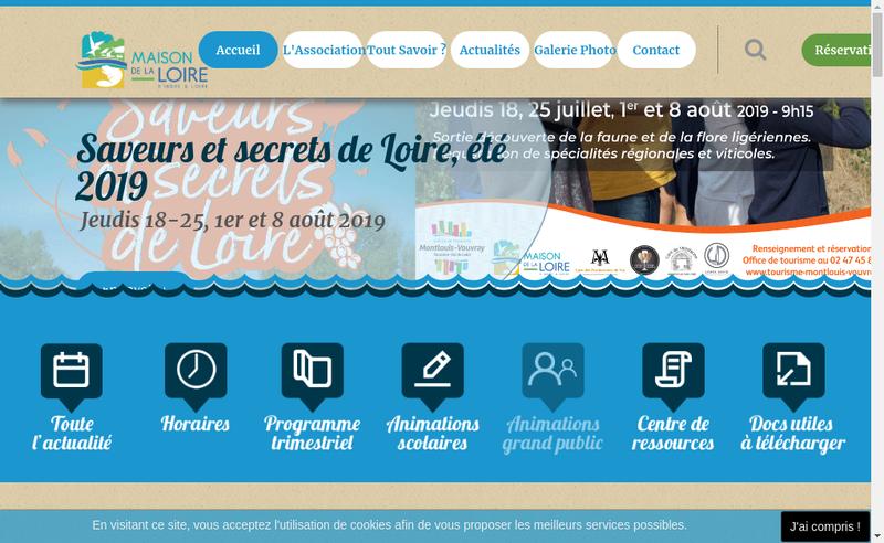 Capture d'écran du site de Maison de la Loire d'Indre et Loire