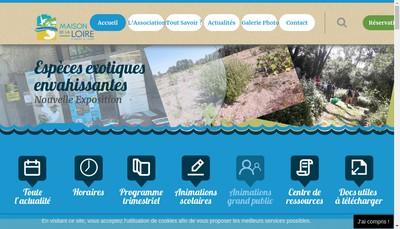Site internet de Maison de la Loire d'Indre et Loire