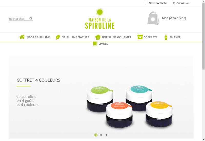 Capture d'écran du site de Maison de la Spiruline