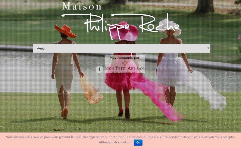 Capture d'écran du site de Maison Philippe Roche