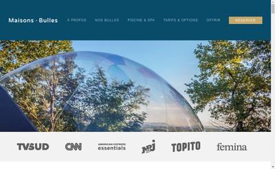 Site internet de Maisons Bulles