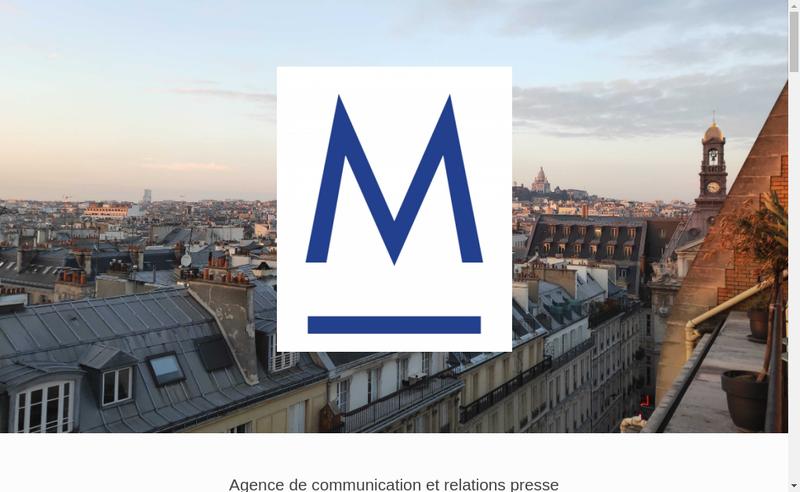 Capture d'écran du site de Majorelle, Pr & Events