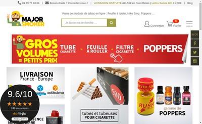 Site internet de Major Smoker