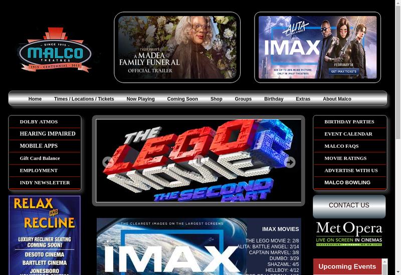 Capture d'écran du site de Malco
