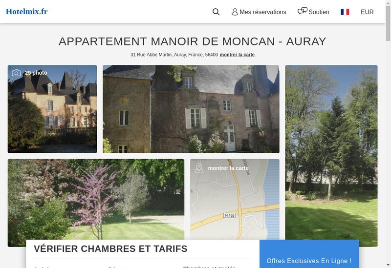 Capture d'écran du site de Moncan