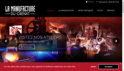 Site internet de La Manufacture du Grenat