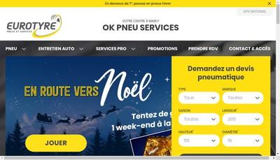 Site internet de Ok Pneus Service